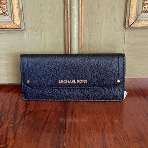 NWT Michael Kors slim leather envelope wallet